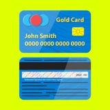 Vektor-Kreditkarte-Illustration Lizenzfreie Stockbilder