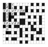 Vektor-Kreuzworträtsel-Gitterteil abgeschlossen mit Wörtern Stockbilder