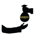 Vektor-Kunstillustration der Bestechung schwarze Lizenzfreies Stockbild