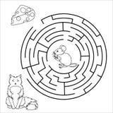 Vektor-Labyrinth, Labyrinthbildung Spiel Lizenzfreie Stockfotografie