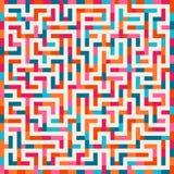 Vektor-Labyrinth-Rosa orange blauer Maze Square auf weißem Hintergrund Lizenzfreie Stockfotografie