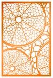 Vektor-Laser-Schnittplatte Abstraktes natürliches Muster mit Abschnitt von Lizenzfreie Stockfotos