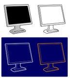 Vektor - LCD-Überwachungsgerät Lizenzfreies Stockbild