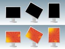 Vektor-LCD-Überwachungsgerät Stockbild