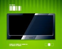 Vektor-LCD-Fernsehbildschirm stock abbildung