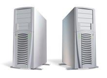 Vektor. Leistungsfähige ansehnliche Computersystemmaßeinheiten Stockfoto