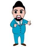 Vektor-Leiter Man Cartoon Lizenzfreies Stockbild