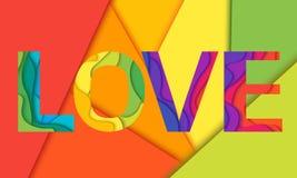 Vektor-Liebeswort Stockbild