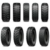 Vektor-LKW-und Traktor-Reifen Stockbild