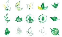 Vektor Logo Elements Leaf Royaltyfri Foto