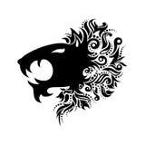 Vektor Logo Lion Head Arkivfoton