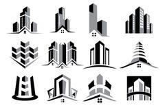 Vektor Logo Real Estate Construction Set royaltyfri foto