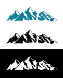 Vektor-Logo von Alpen-Bergen Lizenzfreie Stockfotografie