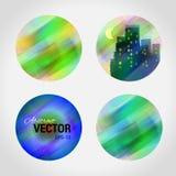 Vektor-Logoschablone des Entwurfs runde Buntes Ballmuster Lizenzfreie Stockbilder