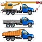 Vektor Lorry Icons Set 3 Lizenzfreies Stockbild