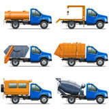 Vektor Lorry Icons Set 5 Stockfoto