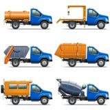 Vektor Lorry Icons Set 5 Stockfoto