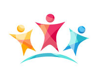 Vektor lyckliga Team Logo Royaltyfri Fotografi