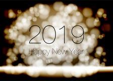 Vektor - lyckligt nytt år 2018 2019 stock illustrationer