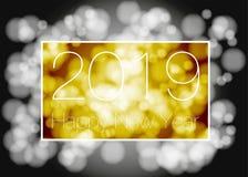 Vektor - lyckligt nytt år 2018 2019 royaltyfri illustrationer