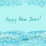 Vektor - lyckligt nytt år 2014 Stock Illustrationer