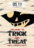 Vektor-Mama-Plakat-Halloween-Partei stock abbildung