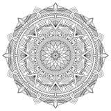 Vektor-Mandalaillustration Stockbild