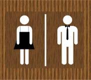 Vektor-Mann- u. Frauentoilette Stockfotografie