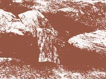 Vektor-Meerwasser, Sand und Wellen masern Vektor-Hintergrund vektor abbildung