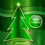 Vektor-metallische Weihnachtskarte lizenzfreie abbildung