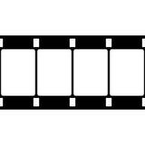Vektor 16 Millimeter-Film-Streifen-Illustration auf Weiß Lizenzfreies Stockfoto