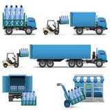 Vektor-Mineralwasser-Versand Stockfotos