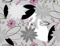 Vektor mit Blumen Stockbilder