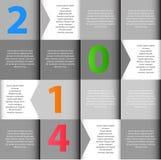 Vektor mit 2014 INFOGRAPHICS-Gestaltungselementen Stockbild