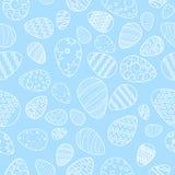 Vektor modell av vita ägg Påsk Seamless bakgrund _ stock illustrationer