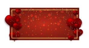 Vektor-moderne Valentinsgrußtagesfeiertagseinladungskarte Stockfotografie