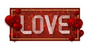 Vektor-moderne Valentinsgrußtagesfeiertagseinladungskarte Stockfotos