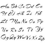 Vektor-modernes Alphabet schriftkegel ABC malte Buchstaben Modernes Brushe lizenzfreie abbildung
