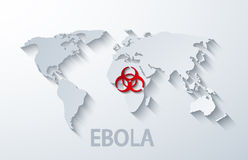 Vektor modernes ebola elemenr Design Stockfotografie