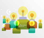 Vektor-moslemische Öl-Lampen-Grafiken Lizenzfreies Stockfoto