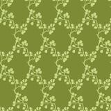 Vektor Moss Green Kimono Branches Silhouette Lizenzfreie Stockfotografie