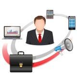 Vektor-multi Manager Concept Stockbild