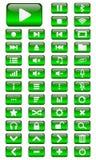 Vektor-Multimediaknöpfe eingestellt Lizenzfreies Stockfoto