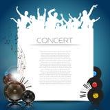 Vektor-Musik-Hintergrund Stockfoto