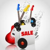Vektor-Musik-Instrument-Verkauf Stockfotografie