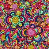 Vektor, Muster Hintergrund, Mehrfarben-, nahtloses Muster, verlässt; Blumen Stockbilder