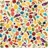 Vektor-Muster-Lebensmittel und Getränkehintergrund Lizenzfreie Stockfotografie
