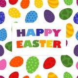 Vektor-Muster von gemalten Eiern von fröhlichen Ostern lizenzfreie abbildung