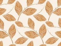 Vektor - nahtlose Blatttapete Browns Lizenzfreie Stockbilder