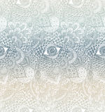 Vektor nahtlose Handdrawn Mandala Background stockbild